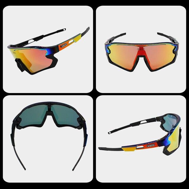Óculos de sol preto photochromic ciclismo uv400 mtb bicicleta equitação tr90 esporte ao ar livre polarizado eyewear 1/5/6 lente 6
