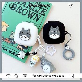 Nette Silikon Kopfhörer Shell Fall Für Oppo Enco W51 Fall Drahtlose Kopfhörer Schutz Fall für Oppo Enco W 51 Abdeckung zubehör