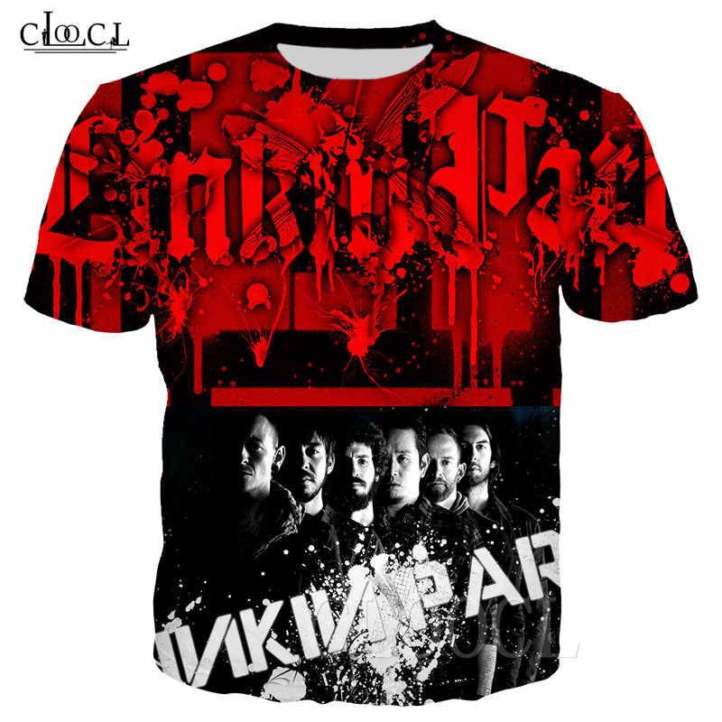 Unisex T Shirt Rock Band Linkin Park 3D Stampa T-Shirt Donne Degli Uomini Felpa Casual Streetwear Stile di Grandi Dimensioni Maglietta Tee Pullover