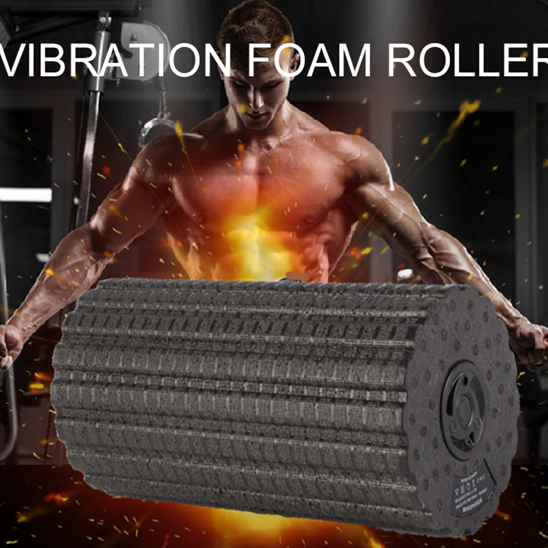 Yoga Fitness Foam Roller Electric 4-Speed Vibrating For Muscle Massage And Deep Tissue Trigger Roll Stretch Tool Foam Roller