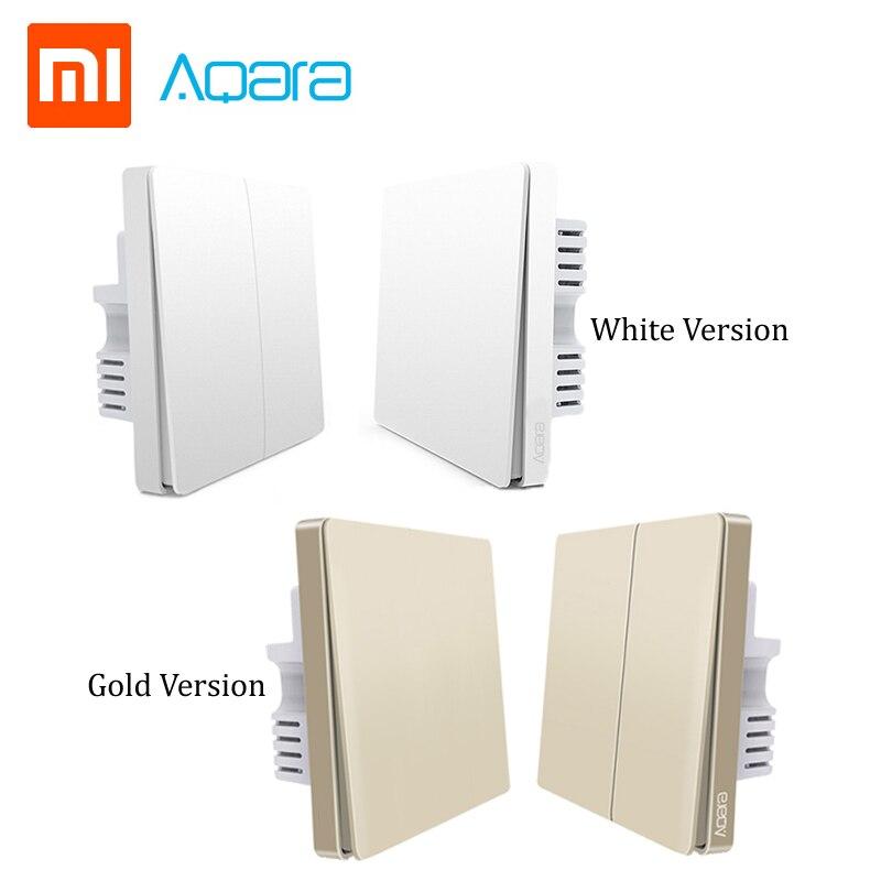 Original Xiaomi Aqara Switch Wall Switch ZigBee Smart Home Light Control Zero Line Fire Wire Wireless Key Wall Switch Mi Home