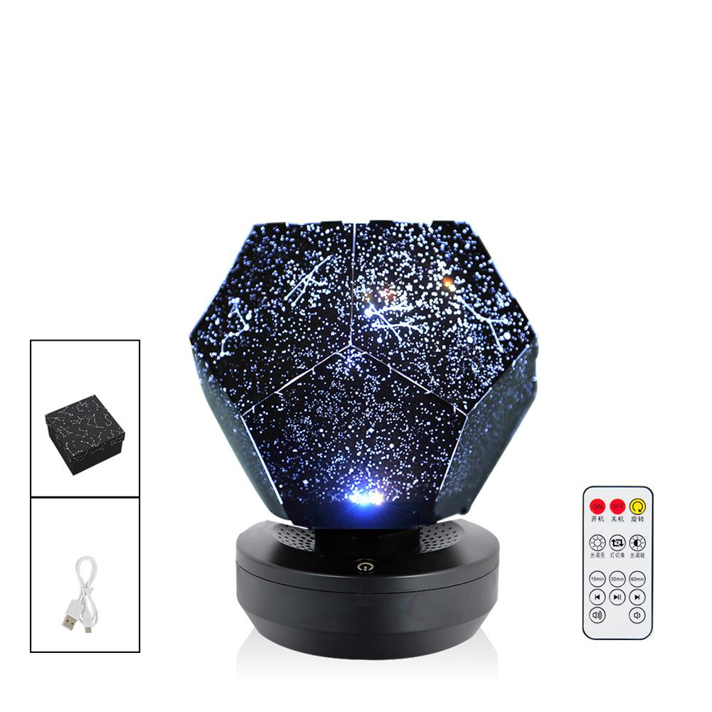 Starry Sky Night Light Magic Planet Projector Universe LED Lamp Colorful Rotation Intermittent Star Children Baby Christmas Gift