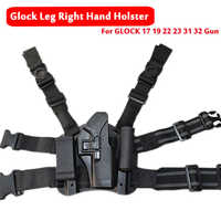 Glock Leg Holster Airsoft Pistol Hunting Handgun Holster Glock Series 17 19 22 23 31 32 Left / Right Handed Drop Leg Holst er