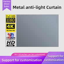 MIXITO 16 9 projektor Anti-kurtyna świetlna prosty ekran 100 120 133 cali przenośny ekran projekcyjny do kina domowego tanie tanio NONE CN (pochodzenie) Biały matowy