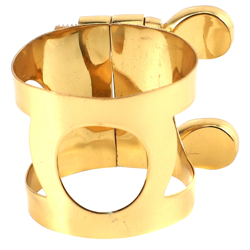 Saxophone Mouthpiece Clamp Ligature Clip for Woodwinds Used for Alto Saxophone, Clarinet, Bakelite Mouthpiece Brass