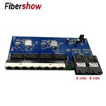 Медиаконвертер волоконно-оптический гигабитный Ethernet коммутатор PCBA 8 RJ45 UTP и 2 SC оптоволоконный порт 10/100/1000M плата PCB