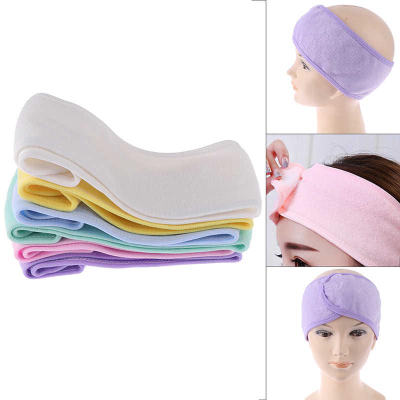 Модные повязки на голову с тюрбаном для девушек, диадема для макияжа, косметическое полотенце из ткани, спа-ванна, для душа, для мытья лица, эластичные повязки для волос для женщин