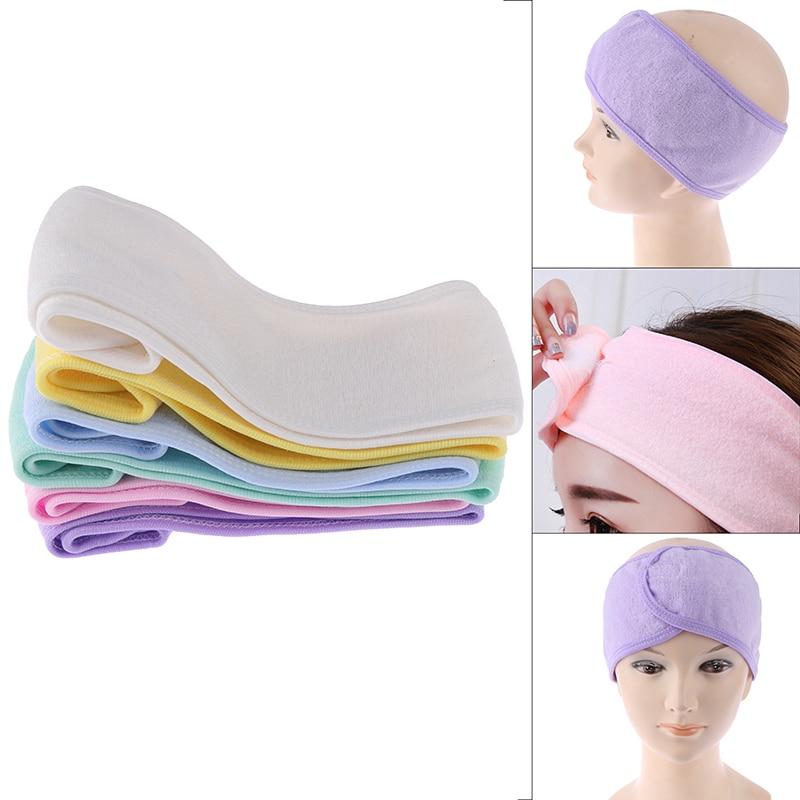Fashion Head Turban Ladies Make Up Tiara Headbands Cosmetic Fabric Towel Spa Bath Shower Wash Face Elastic Hair Bands For Women