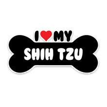 Cartoon i heart my shih tzu dog bone car sticker vinyl decals