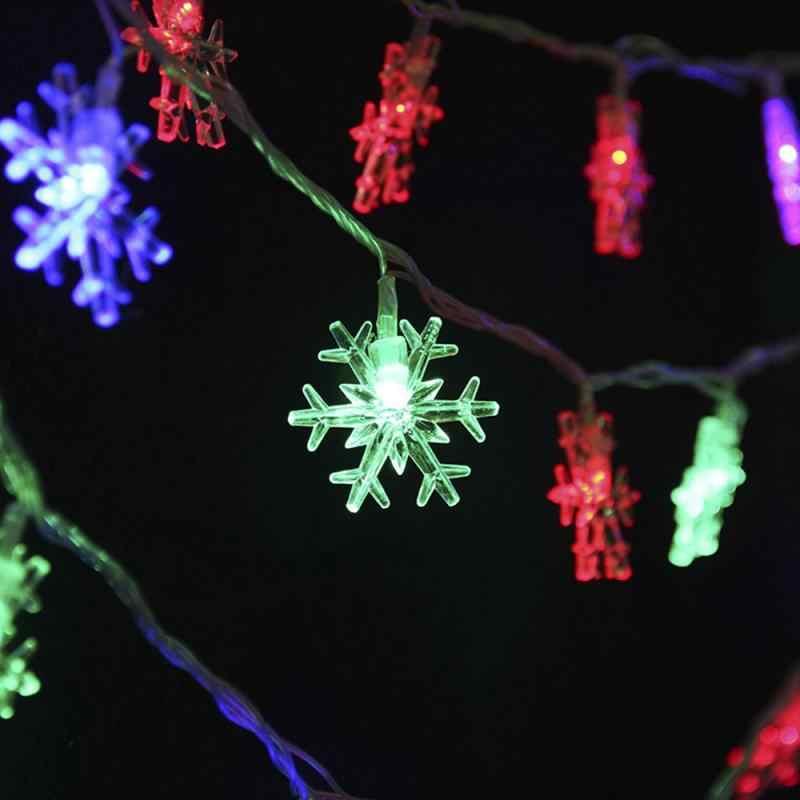 Tahun Baru Outdoor Indoor Lampu LED String Lampu Natal Pohon Pernikahan Xmas Peri Lampu Natal Dekorasi untuk Rumah