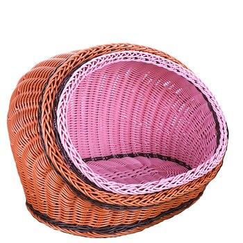 Removable pet nest rattan pet nest straw kennel summer durable rattan cat litter
