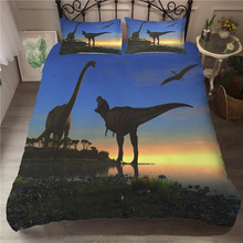 A Bedding Set 3D Printed Duvet Cover Bed Dinosaur Home Textiles for Adults Bedclothes with Pillowcase #DG04