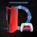 Сменный Чехол PS5 Disc Edition, чехлы, силиконовый чехол для панели PS5, чехол для консоли PS5, черные пластины, Сакура, Joy Con