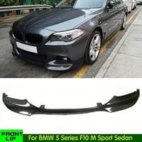 Front stoßstange für BMW 5 Series F10 M Sport Limousine 4 Tür 528i 530i 535i 550i carbon faser/FRP kopf lippe vorne lip 2012 16-in Stoßstangen aus Kraftfahrzeuge und Motorräder bei