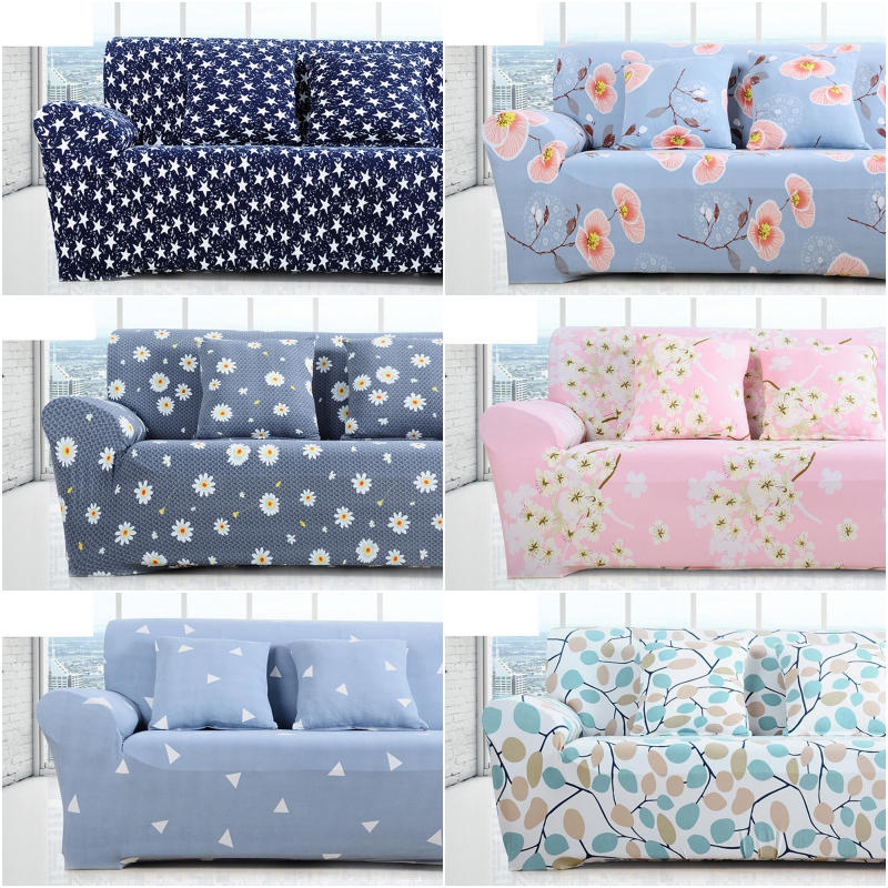Simple Sofa Cover Elastic For Living Room Printed Cover For Sofa Slipcovers Stretch 1/2/3/4 SeatSofa Cover