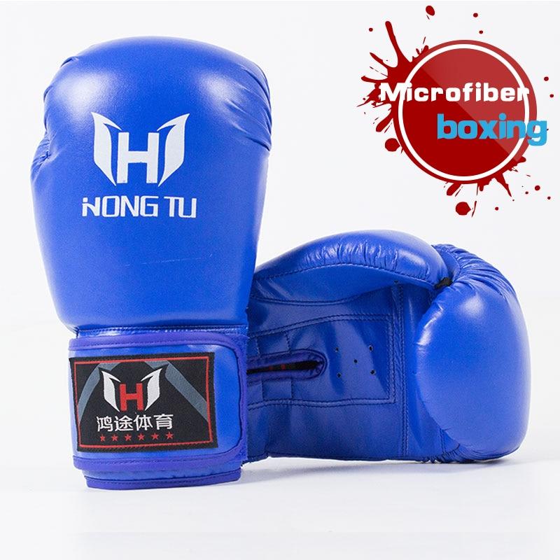 Luvas de Boxe profissional de microfibra respirável adulto