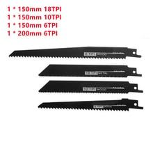 4Pcs Wood Reciprocating Saw Blade High Carbon Steel 6TPI 200mm Reciprocating Saw Blade For Cutting Metal Wood Saw Blade