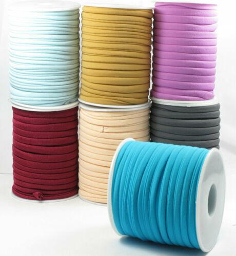 5mm 20meters / Spool Multi Color Elastic Fabric Lycra Cord String Soft Lycra String DIY Mask Ear Cord