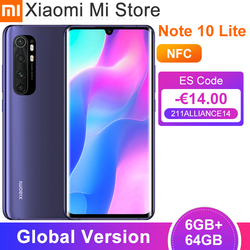 Глобальная версия Xiaomi Mi Note 10 Lite смартфон 6 ГБ 64 Гб Snapdragon 730G 64MP камера 6