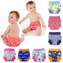 Bebê infantil crianças calças de treinamento à prova de vazamento calcinha fraldas reutilizáveis pano fralda fraldas lavável natação troncos cintura alta