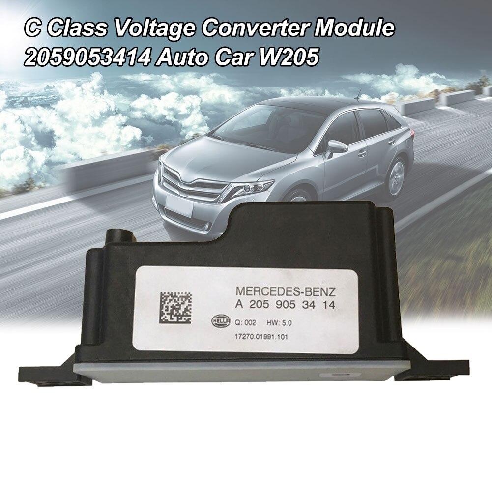 Plástico ajuste direto durável 2059053414 substituição preto prático conversor de tensão módulo carro w205 classe c para mercedes