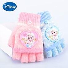 Детские перчатки из мультфильма «Холодное сердце», Эльза, Анна, принцесса, Мультяшные перчатки для девочек, зимние теплые перчатки с пятью пальцами, рождественский подарок