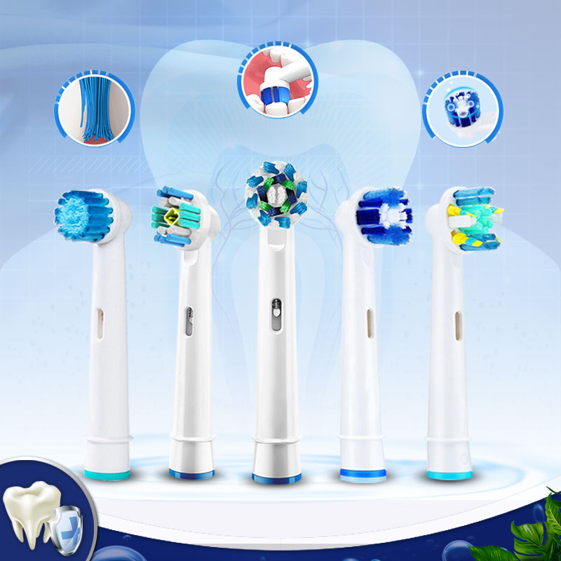 Electric Toothbrush Heads Oral B Replaceable Brush Heads For Oral B Vitality Cross Action Advance Triumph 3D White 8pcs Refills