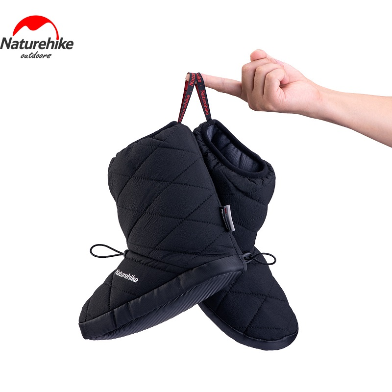 Naturehike New Winter Camping Warm Boots Outdoor Soft Slippers Sleeping Bag Socks Windproof High Boots Ultralight