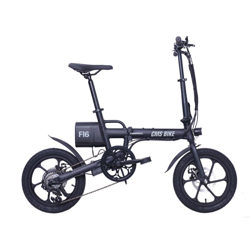 16 inch smart mini folding electric bike lithium battery powered foldable ebike for adults 2