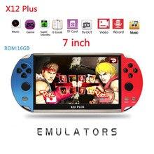 X12 mais jogo de vídeo 7 polegada lcd duplo balancim portátil handheld retro game console vídeo mp5 jogador cartão tf para nes 10000 jogo