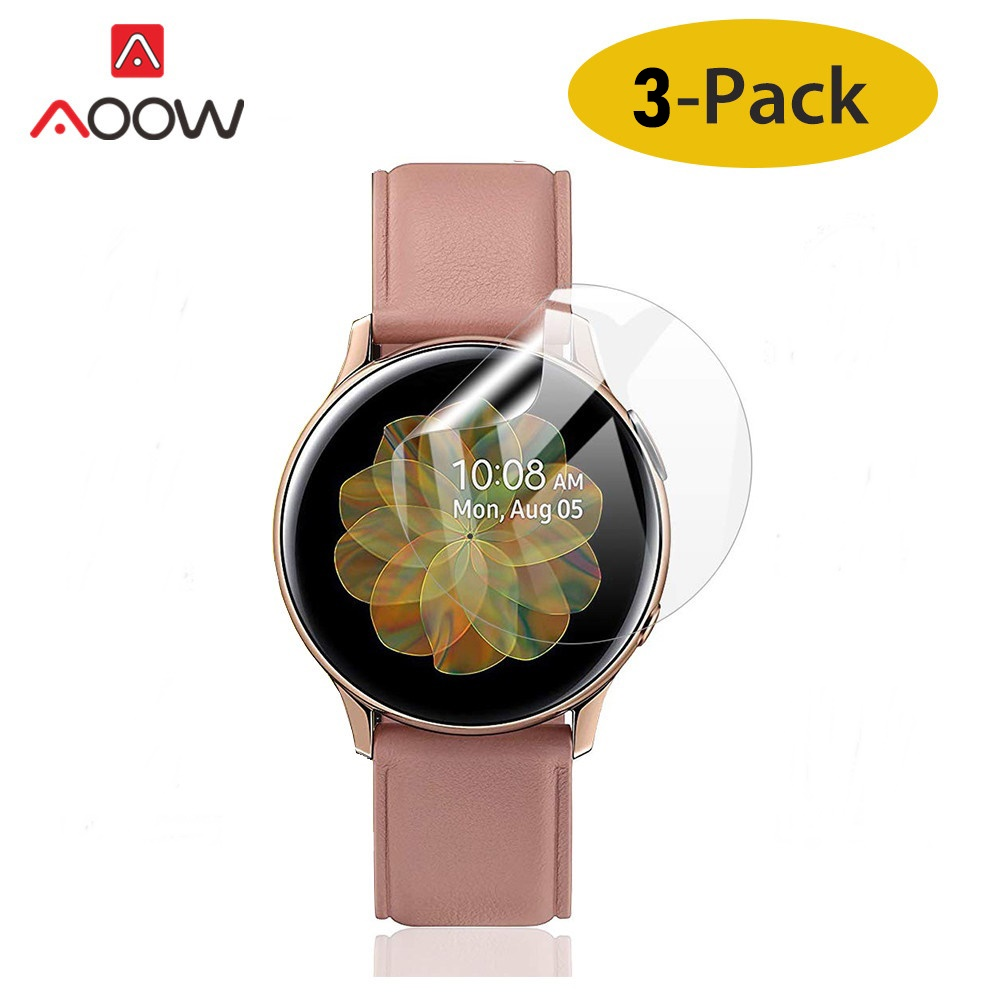 3pcs Soft PET Screen Protective Film For 40mm 44mm Samsung Galaxy Watch Active 1 2 Ultra-thin Full Cover Hydrogel Film R830 R820