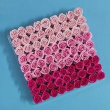 81Pcs Rose Bad Körper Blume Floral Seife Duftenden Rose Hält Blumen Ätherisches Hochzeit Valentinstag Geschenk mix farben Weihnachten