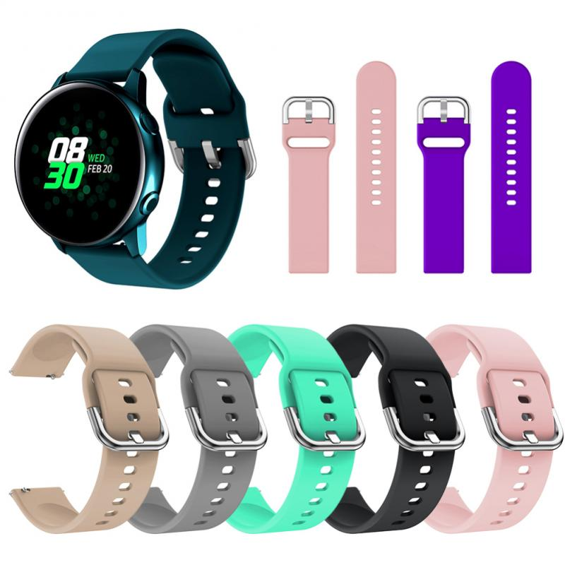Watch Band For Samsung Galaxy Watch Active Watch R500 Silicone Replacement Wrist Strap 20 Mm Sport Band