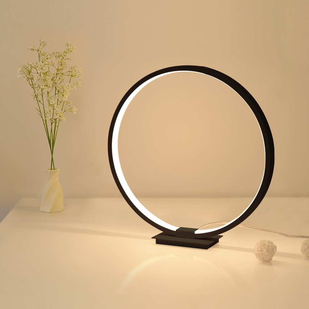 Lamplo ตารางโมเดิร์นโคมไฟอะคริลิค LED โคมไฟศึกษาโคมไฟหรี่แสงได้ nightstand Light อ่าน Minimalist โคมไฟข้างเตียง