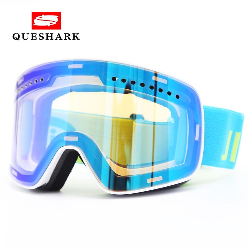 New Magnet Windproof Anti-fog Skiing Snowboard Glasses Spherical Ski Goggles Men Women Hiking Motorcycle Glasses