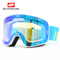 New Magnet Windproof Anti fog Skiing Snowboard Glasses Spherical Ski Goggles Men Women Hiking Motorcycle Glasses