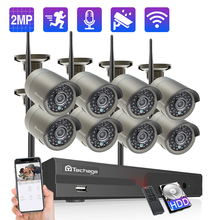 Беспроводная система видеонаблюдения Techage, 8 каналов, 1080P, 2 МП, Wi Fi