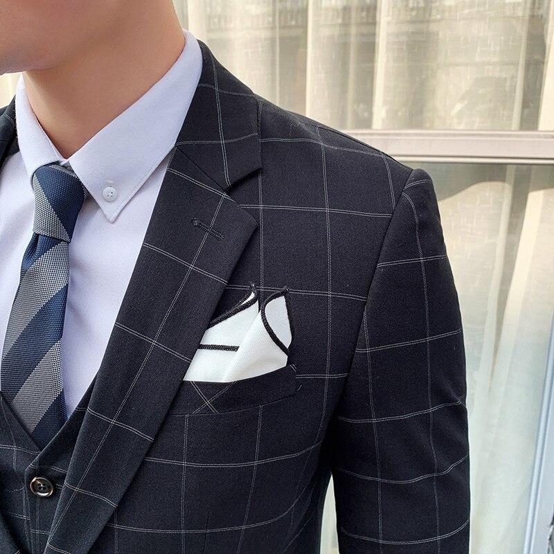 Костюм homme, деловой костюм, комплект из двух предметов в джентльменском стиле, с угловыми лацканами, однобортный деловой костюм с тремя карм... - 4