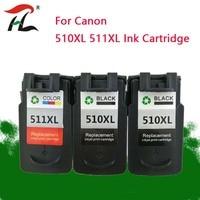 YLC PG510XL CL511XL Compatível Cartucho De Tinta Para PIXMA canon PG510 CL511 IP2700 MP230 MP240 MP250 MP260 MP270 MP280 impressora
