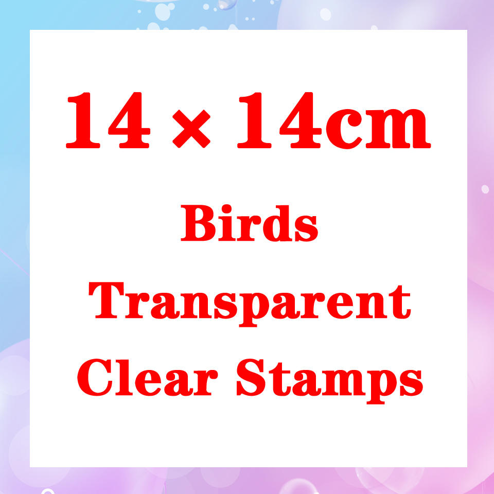 14*14 NEW Birds Transparent Clear Stamps Seal For DIY Scrapbooking Rubber Stamp Sentiment Photo Album Card Making Decoration