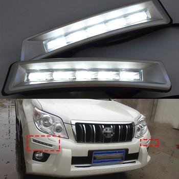 цена на ECAHAYAKU LED Daytime Running Light Day Light For To-yota Land Cruiser Prado FJ150 LC150 2010 2011 2012 2013 fog driving lamp