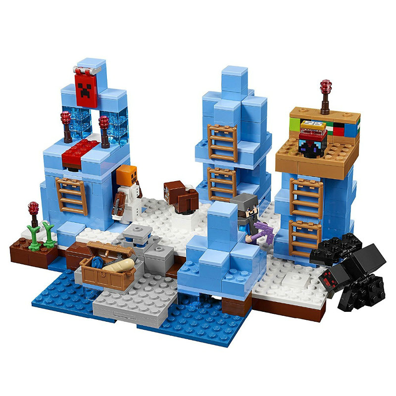 The Ice Spilkes Building Blocks With Steve Action Figures Compatible LegoINGlys MinecraftINGlys Sets Toys For Children 21131 3