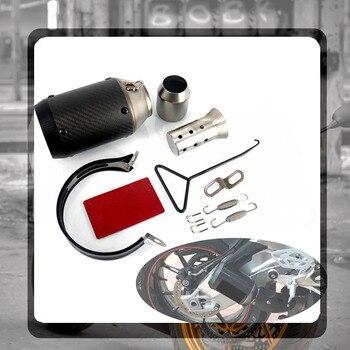 Tubo de Escape Universal Akrapovic para motocicleta de 51MM con silenciador para Moto, olla de Escape para Yamaha Honda KTM Kawasaki Ducati