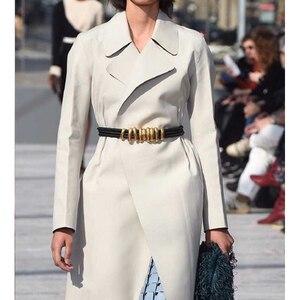 Image 2 - Cosmicchic 2020 Fashion Elegant Metal Becoration Leather Belt High Street Wild Multilayer Line Multicolor Cowskin Belt