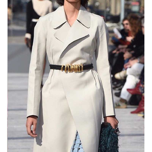 Image 2 - Cosmicchic 2020 mode élégant métal Becoration cuir ceinture haute rue sauvage multicouche ligne multicolore peau de vache ceinture