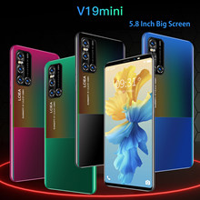 Mais barato 3g wcdma smartphone 5.8 Polegada tela cheia telefone inteligente android 4.4 512mb ram + 4gb desbloqueado duplo sim telefone móvel
