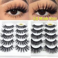 Cílios postiços 6d com 5 pares, extensão de cílios longos, naturais, macios de volume, para uso em olhos falsos com asas dropship
