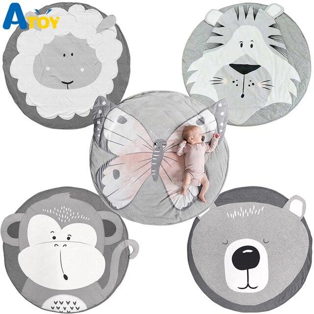 Ins Cartoon Baby Spielen Matten Pad Kleinkind Kinder Krabbeln Decke Runde Teppich Teppich Spielzeug Matte Für Kinder Zimmer Dekor Foto requisiten