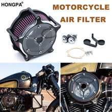 Motorfiets Air Cleaner Intake Luchtfilter CNC Aluminium Ambachten Voor Harley Sportster Dyna Softail Touring Touring Straat Glide RSD(China)