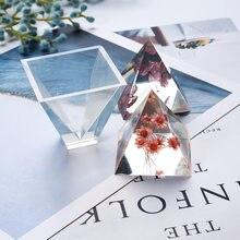 Pyramide silicone moule bricolage miroir complet transparent liquide énergie tour moule cristal résine époxy moule